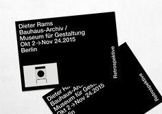 Retrospektive — Dieter Rams  Bauhaus-Archiv / Museum für Gestaltung