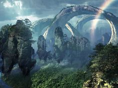 Landscape of 'Pandora' in Avatar, dir. James Cameron (2009)