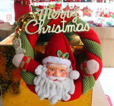 Christmas Ornaments--Santa Claus/Snowman Christmas Garland Size: Diameter 23 cm #Unbranded Christmas Design, Christmas Snowman, Christmas Stockings, Christmas Gifts, Xmas, Christmas Ornaments, Christmas Headbands, Christmas Ideas, Merry Christmas Quotes