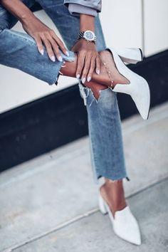 Mule Trend: Favorite Pairs to Wear Now - High Heel Gray Suede mule