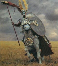 'Hippika Gymnasia' were ritual displays or tournaments performed by the cavalry of the Roman Empire to display their skill and expertise. They took place on a parade ground situated outside a fort and involved the cavalry practicing manoeuvring and the handling of weapons such as javelins and spears. The riders and their mounts wore highly elaborate armour and helmets specially made for display purposes, decorated with images from classical mythology.