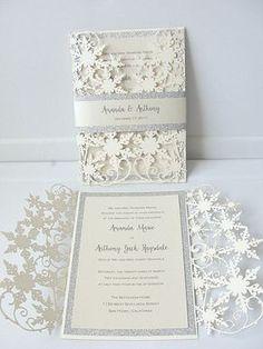 35 Beautiful Winter Wedding Stationery Ideas | HappyWedd.com #PinoftheDay…