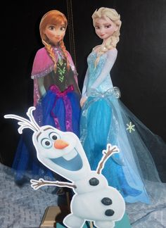 18 inch Tall Frozen Anna Elsa Centerpiece with by PishPoshPartique