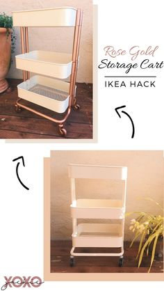 Raskog IKEA Cart Hack Take an Ikea Raskog Cart up a notch with this easy hack. Raskog Ikea, Ikea Raskog Trolley, Interior Design Books, Interior Design Software, Ideas Decoracion Salon, Ikea Cart, Ikea Storage Cart, Esthetics Room, Ikea Bedroom