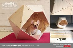 Modern DIY Geometric Doghouse