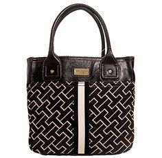 Tommy Hilfiger Big Logo Small Tote Bag Handbag Purse - http://bags.bloggor.org/tommy-hilfiger-big-logo-small-tote-bag-handbag-purse/