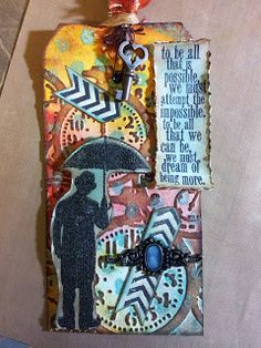 Happy Scrapper: Tim Holtz inspired tag