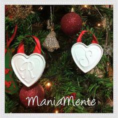 Lettere in gesso. Albero di Natale  personalizzato