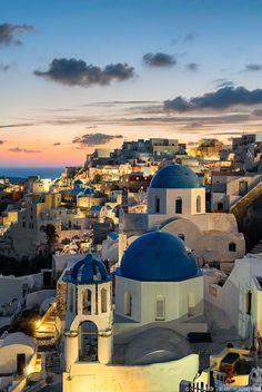 ~~Aegean Paradise - Blue Hour in Oia, Santorini, Grecce by Elia Locardi~~
