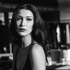 Bella Hadid on set for Dior Make Up. Photographed by Virginie Khateeb.