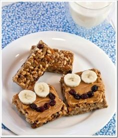 Granola Bar Smiles - SO freaking cute! I am going to make these for my kids someday.