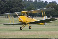 Arriving for the de Havilland Moth Club Rally. De Havilland DH-82A Tiger Moth II,  Off-Airport - Woburn Abbey UK - England, August 17, 2013