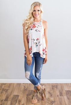 Above All Floral Tank from Mason Jar Boutique