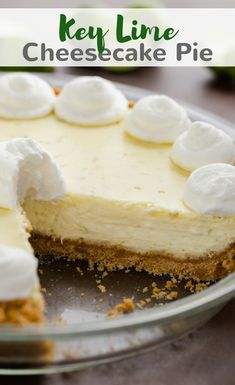 If you love key lime pie then you will adore this Key Lime Cheesecake Pie. It's absolutely the best way to enjoy key limes. #keylime #lime #pie #cheesecake #dessert via @introvertbaker