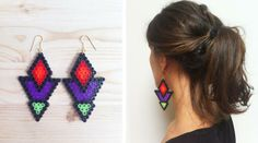 DIY Hama perler earrings by hilaydays