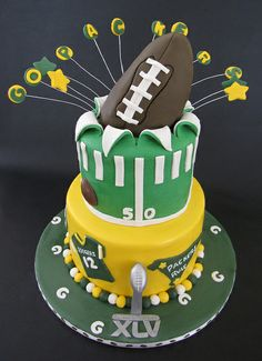 Green Bay SuperBowl Cake by Always with Cake, via Flickr