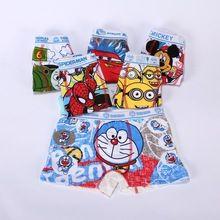 Crianças cueca Boxer Shorts 2 - 10 T calcinha crianças bebê desenhos animados meninos cueca bragas calcinhas infantis(China (Mainland))