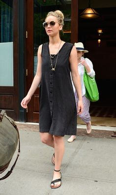 The Mockingjay has landed — see Jennifer's cool Summer looks in these recent pictures from her outing in NYC.