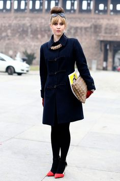 Milan Fashion Week Fall 2013 Attendees Pictures - StyleBistro