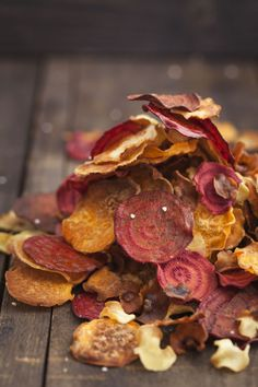 Veggie Chips - From sweet potato, carrot, or yuca fries to parsnip, beet root, or kale chips, we've found a way to turn most root veggies into a crunchy treat. Try seasoning with sea salt, a drizzle of olive oil, and turmeric or cayenne pepper for a little heat.