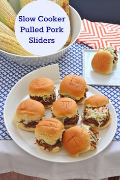 Slow Cooker Pulled Pork Sliders | TheCornerKitchenBlog.com