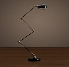 Atelier Scissor Task Floor Lamp Black Enamel