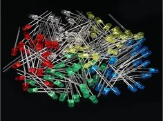 100pcs 3mm LED Light White Yellow Red Green Blue Assorted Kit DIY LEDs Set 3 mm LED 5 kinds of-in Diodes from Electronic Components & Supplies on Aliexpress.com | Alibaba Group
