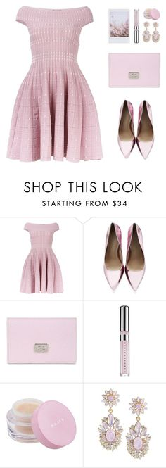 """""""Princess"""" by felytery ❤ liked on Polyvore featuring Alexander McQueen, Carvela Kurt Geiger, Tod's, Chantecaille, Mally and Carolee"""