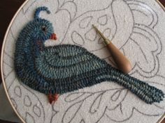 Rug hooking how-to.