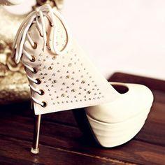 Rhinestone Embellished Pump #belt #heels www.loveitsomuch.com