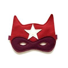 "DIY Superhero Mask- Penelope saw this and said, ""That's awesome. Has a Star on it."" LOL Guess, I may be making this for her."