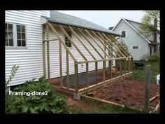 Lean-to Greenhouse video I am planning a lean-to coop behind the garden shed