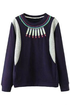 Stylish Loose Graphic Long-Sleeve Sweatshirt