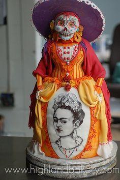 Una Catrina muy Gabacha, pero Catrina al fin. Y con Frida! que mas se puede pedir?