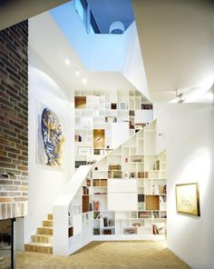 cool stairwell/bookcase