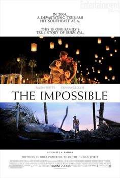 The Impossible , starring Naomi Watts, Ewan McGregor, Tom Holland, Oaklee Pendergast. The story of a tourist family in Thailand caught in the destruction and chaotic aftermath of the 2004 Indian Ocean tsunami. #Drama #History #Thriller