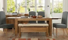 Sit back in comfort and enjoy the delicious spread with our dining room furniture and elegant sets in range of finishes. Next day delivery & free returns available. Dining Set, Dining Bench, Kitchen Dining, Dining Room Furniture, Home Furniture, Outdoor Furniture Sets, Extendable Dining Table, Home Decor, Easter