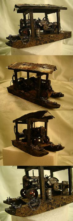 Other Narrow Gauge 9037: Hit And Miss Gasoline Logging Engine On Skidder - Custom Weathered - Lot 4 - -> BUY IT NOW ONLY: $185 on eBay!