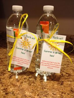 "Teacher appreciation gift using Arbonne fizzes.  ""Don't ""fizz""le out! Summer is almost here!"" Get your Arbonne fizzes at jenniferhitt.arbonne.com"