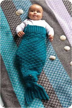 Pattern: Mermaid Tail (don't like the rec for wool on babies, may try some acrylic instead)