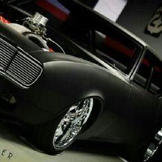 1968 Camaro black suede