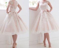 Kurze Spitze Hochzeitskleider Mit Bogen Brautkleider Transparent Zurück Partei in Kleidung & Accessoires, Hochzeit & Besondere Anlässe, Brautkleider | eBay!