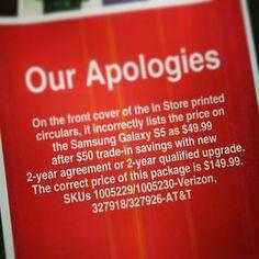 When Samsung Galaxies were only $50! Oh, wait … NooooOoooOooope. | 23 Epically Wrong Retail Fails
