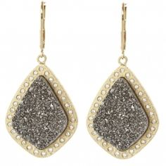 Wow these are dramatic! Titanium Druzy - must have!