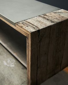 + #bench #sideboard #weathered_wood #concrete | by concrete-home-design