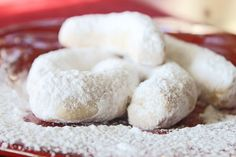 Greek Kourabiedes (Greek Butter Cookies)....my most favorite melt in your mouth cookie in the world!!!