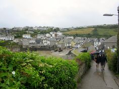 PORT ISAAC: View of the town from Fern Cottage, aka Doc Martin's house https://destinationfiction.blogspot.ca/2016/10/doc-martins-port-isaac.html
