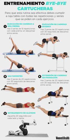 El entrenamiento definitivo para despedirte de las cartucheras | Fitness | Womens Health