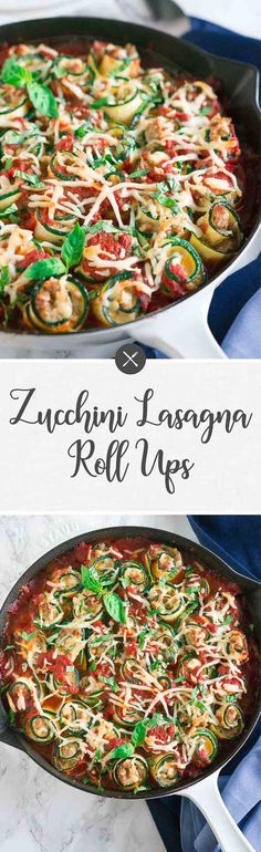 These Zucchini Lasag