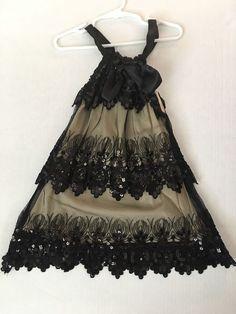 "Girls Size 6x Party Dress ""Lipstik Girls"" Black Lace Sequins Excellent Condition    eBay"